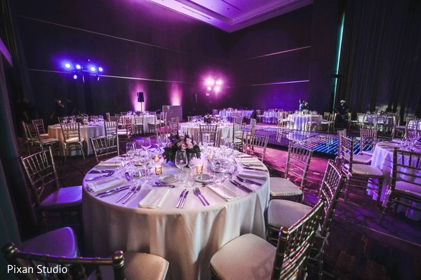 Incredible Indian wedding reception lights decorations.