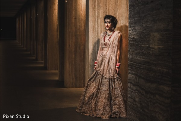Adorable indian bridal reception look.