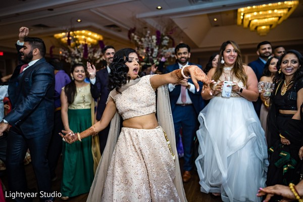 Indian bride having a great time.