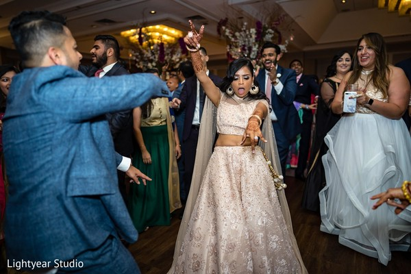 Bride having an amazing time.