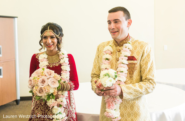 Lovely Indian couple just married.