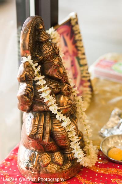 Closeup capture of Ganesha Puja god.