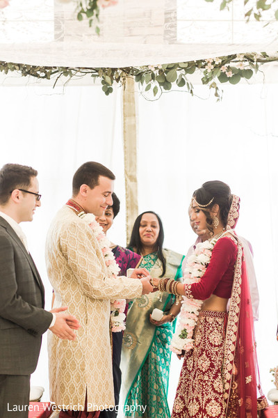 Marvelous capture of Indian Couple exchanging ring. s