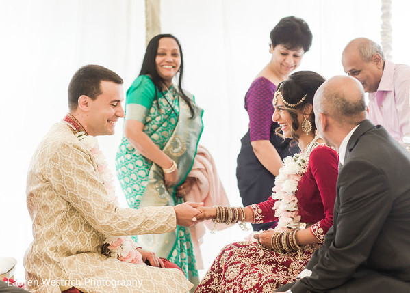 Indian couple's ceremony ritual capture.