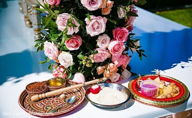 Indian wedding floral designs.