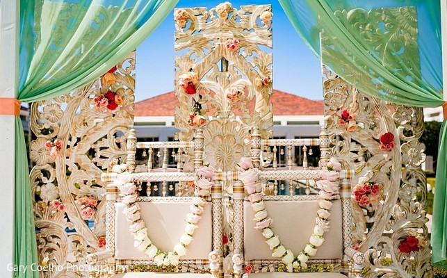 Indian wedding mandap.