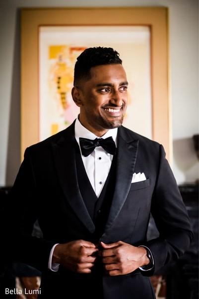 Indian groom looking amazing.