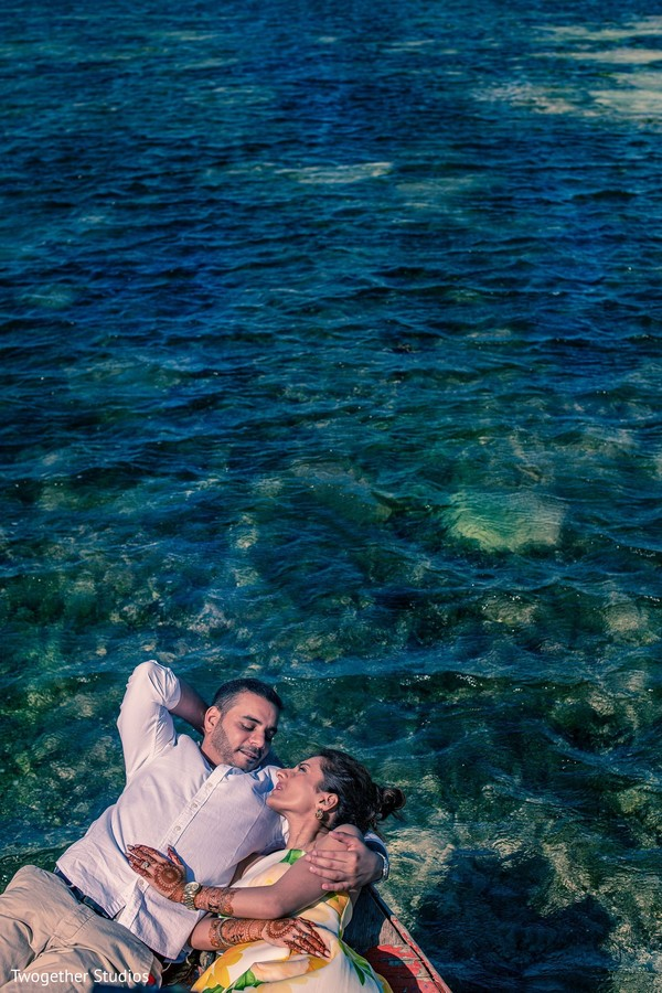 Amazing photo of our Indian couple at the ocean.