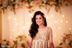 Lovely Indian bride at reception party capture.