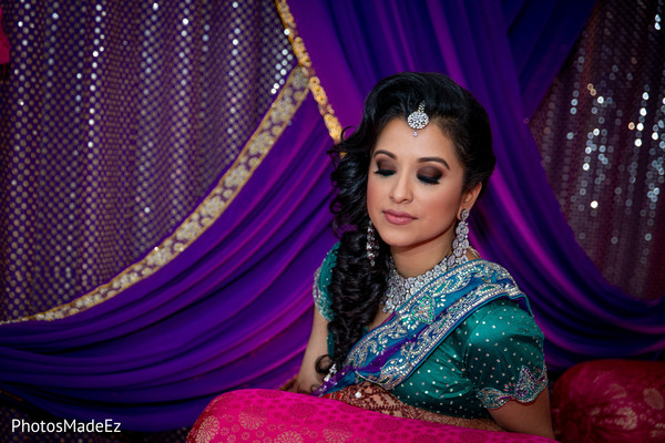 Enchanting Indian bridal Sangeet look.