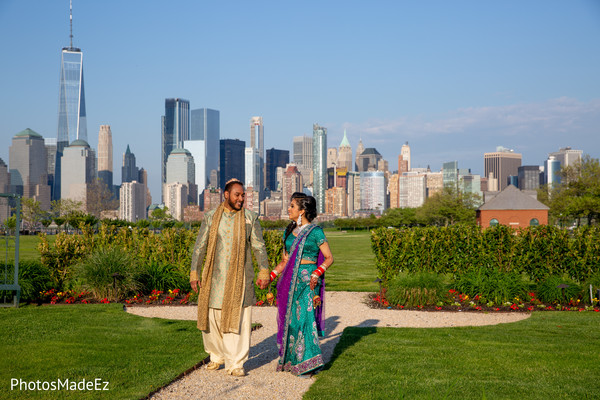 Outdoors capture of Indian couple photo session.