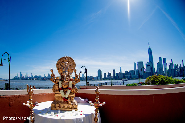 Impressive Indian Ganesha Puja decor.