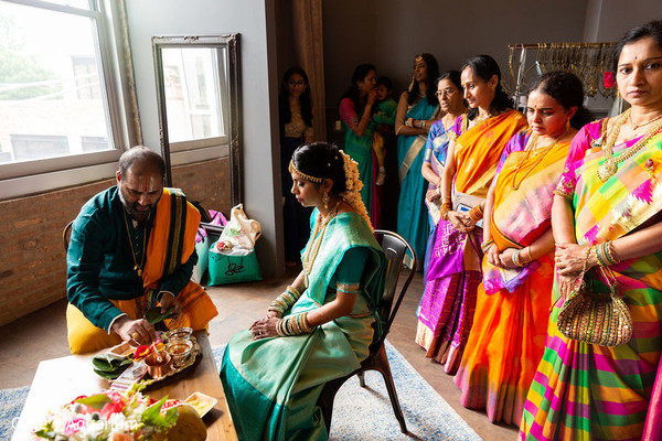 Take a look a this Indian pre-wedding ritual for bride.
