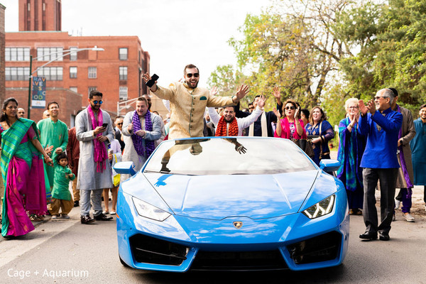 See this Charming Indian groom at his baraat procession.