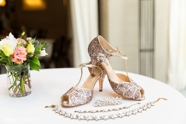 Dreamy shoes and jewelry worn by our Maharani.