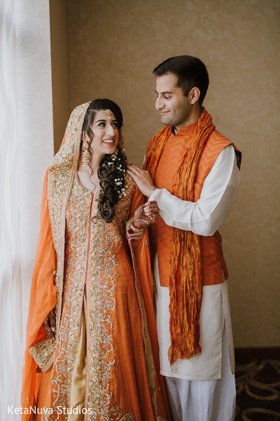 Lovely Indian couple at photo shoot.