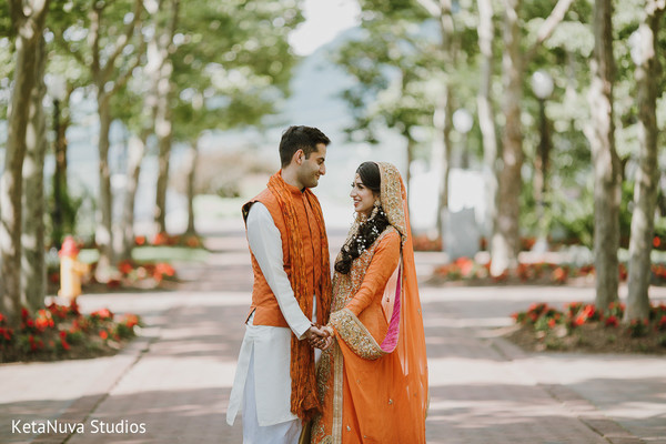 Adorable Indian couple in photo shoot.
