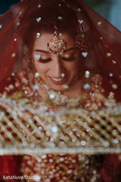 Lovely Indian bride close up.