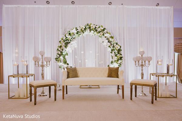 Majestic stage set up decoration.