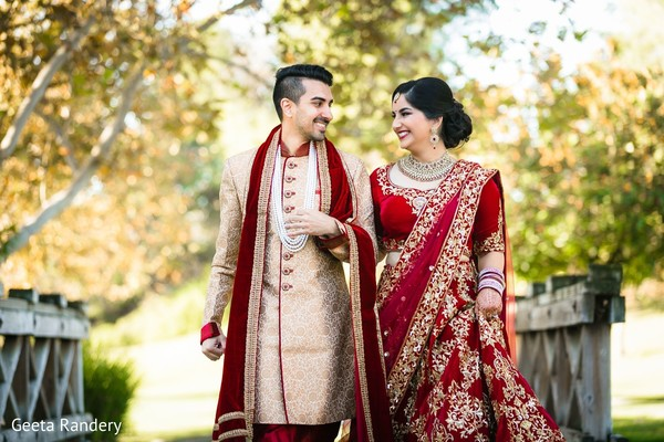 Lovely Indian couple taking a walk.