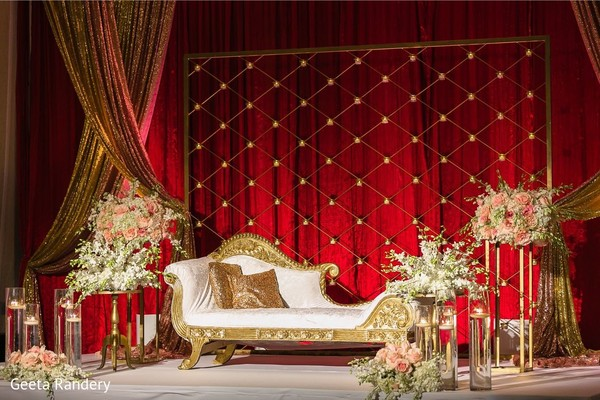 Majestic stage set up for our dazzling Indian couple.