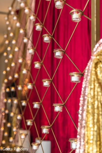 Glamorous candle decoration.