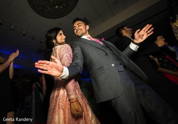 Charming Indian couple dancing.