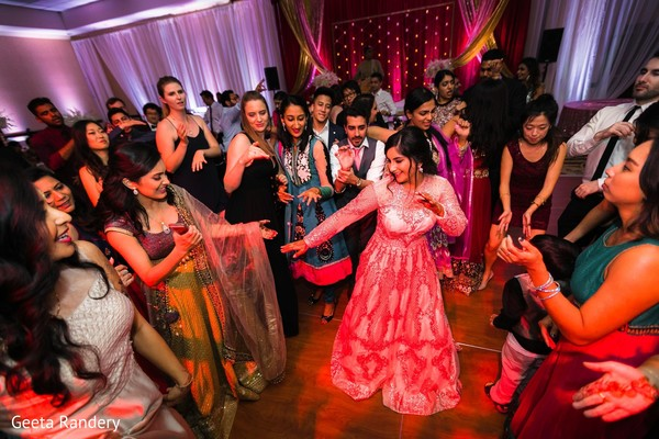 Take a look at our Indian bride dancing at the reception.