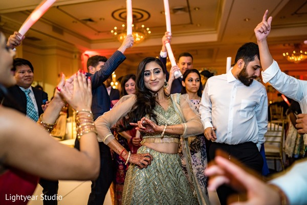 Adorable indian bride showing some dance moves