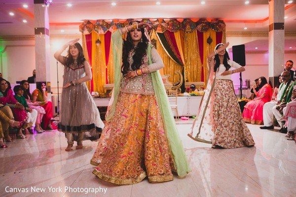 Maharani and bridesmaids Sangeet dance.