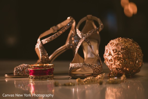 Incredible capture of Indian bridal shoes and jewelry.
