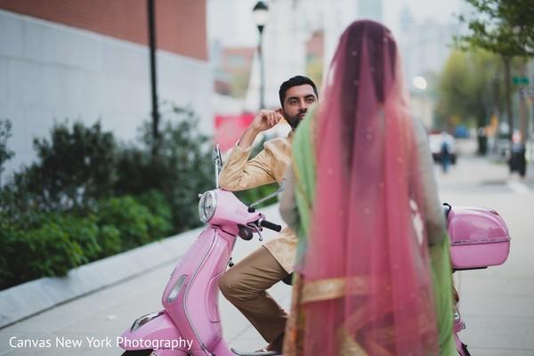 Maharani meeting rajah outdoors capture.