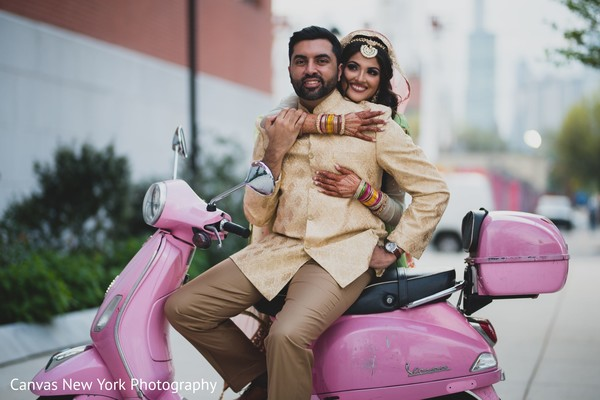 Sweet Indian bride and groom photo session,