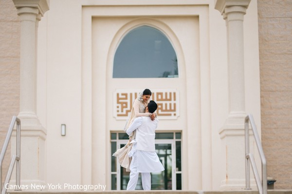 Indian bride and grooms cherish  moment capture.