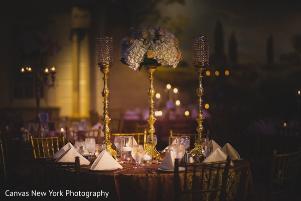 Marvelous Indian wedding reception table decoration.