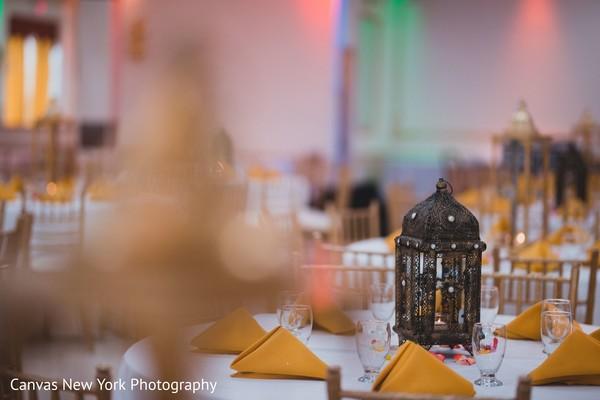 Incredible Indian pre-wedding table decor.