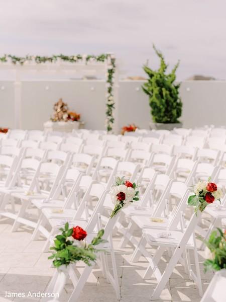 Incredible Indian wedding ceremony seats.