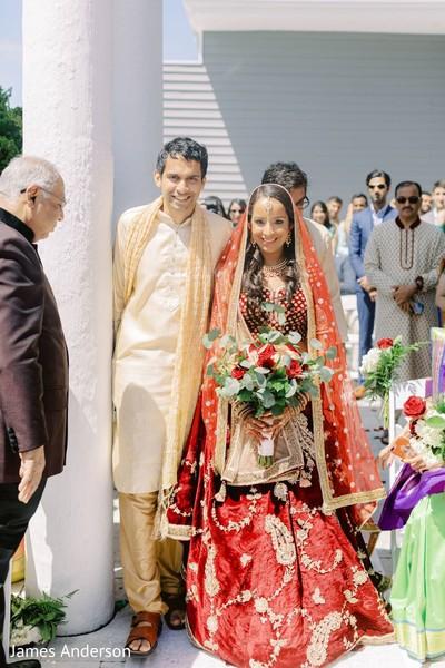 Incredible Indian bridal ceremony entrance.