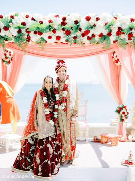 Marvelous photo session at Indian wedding ceremony.