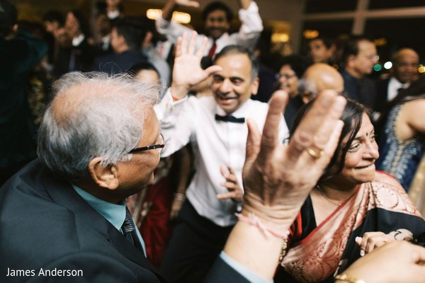Upbeat indian wedding reception.