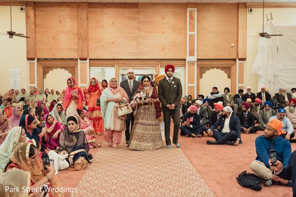 Maharani entering the ceremony.