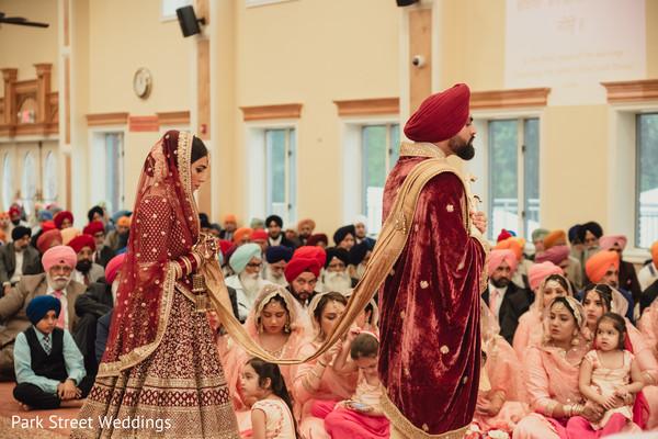 Raja and Maharani entering to the ceremony.