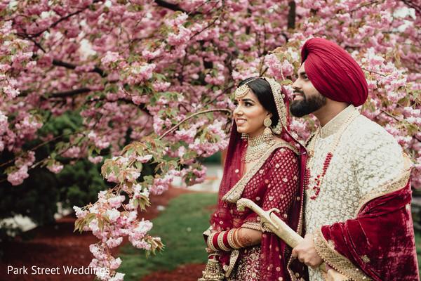 Raja and Maharani outdoors posing.
