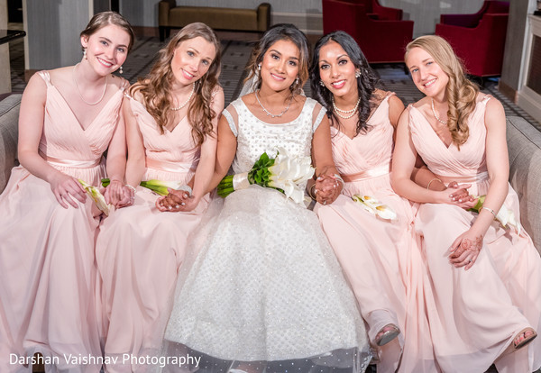 Lovely Indian bride and bridesmaids capture.