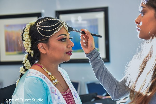 Maharani getting ready for the bash.