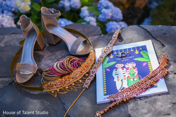 Maharani's wedding accessories.