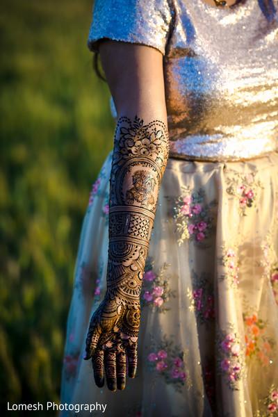 Indian bride's mehndi.