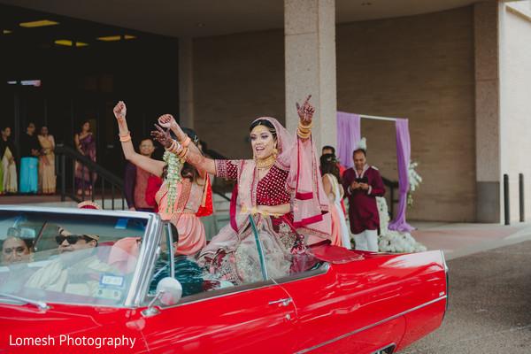Indian bride looking dazzling.