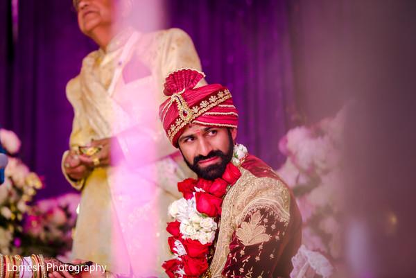 Indian groom waiting for the Maharani.