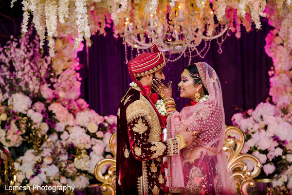 Indian groom and Maharani looking beautiful.
